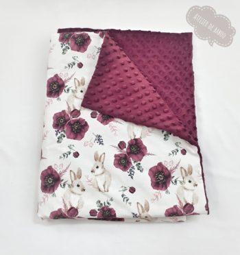 Couverture Lapin fleuri