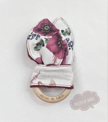 Hochet Lapin fleuri